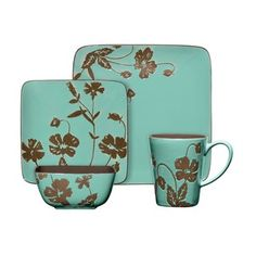 @Overstock - Adorn your table with this 16-piece dinnerware set from Gibson. A turquoise ceramic construction and floral design finish this set.http://www.overstock.com/Home-Garden/Gibson-Montville-16-piece-Dinnerware-Set/6642066/product.html?CID=214117 $59.99