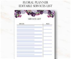 Floral Eyelash Extension Client Forms Printable Client