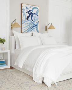 Goose Down Pillows, Coastal Bedding, Coastal Bedrooms, Bedroom Bed, Bedroom Ideas, Master Bedrooms, Bedroom Inspo, Bedroom Inspiration, Dream Bedroom