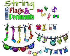 String, Banners, Flags & Pennant clipart created by rz alexander https://www.teacherspayteachers.com/Store/Rz-Alexander