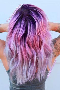 33 Cool Ideas of Purple Ombre Hair Here you will find a list of 33 photos with b. - 33 Cool Ideas of Purple Ombre Hair Here you will find a list of 33 photos with bold purple ombre ha - Cute Hair Colors, Pretty Hair Color, Beautiful Hair Color, Hair Color Purple, Hair Dye Colors, Blonde Color, Fun Hair Color, Purple Hair With Blonde, Purple Colors