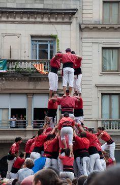 Castellers de Manresa en la fiesta de Sabadell