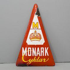 SKYLT, emalj, Monark Cyklar, 1900-talets första hälft.