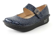 Alegria Paloma Navy Embossed Rose - Alegria Shoe Shop Exclusive