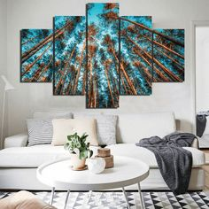 Style Your Home Today With This Amazing 5 Panel Nature Forest Landscape Framed Modern Wall Canvas For $127.00  Discover more canvas selection here http://www.octotreasures.com  If you want to create a customized canvas by printing your own pictures or photos, please contact us.