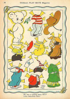Vintage Paper Doll, Little Boy Bear by shelece, via Flickr