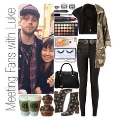 """""""Meeting Fans with Luke"""" by narryismybae ❤ liked on Polyvore featuring Lipstick Queen, Alice + Olivia, Valentino, Casetify, Topshop, Soia & Kyo, LULUS, NYX, Huda Beauty and MICHAEL Michael Kors"""