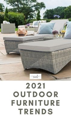 Are you thinking about updating your outdoor furniture this year? If the answer is yes - or even just maybe - this guide to the key outdoor furniture trends for 2021 is a great place to start. #growingfamily #outdoorliving
