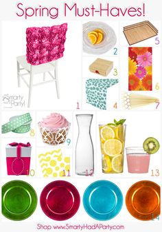 Spring is here! And so is Smarty's new spring partyware! Check out our Spring Must-Haves. | Smarty Had A Party