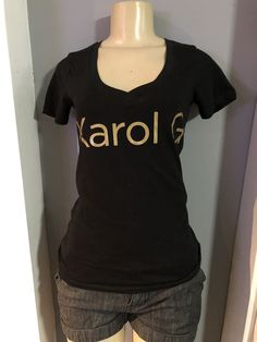 Women Karol G T-Shirt / V-Neck crewneck or Tank Crew Neck, V Neck, Silk Screen Printing, T Shirts For Women, How To Make, Cotton, Tops, Fashion, Screen Printing Press