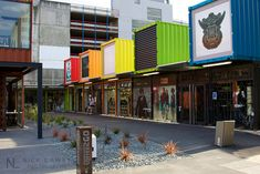 Cashel Pop-Up Container Mal: Temporary collection of 27 shops and cafes housed in shipping containers, Christchurch New Zealand following a series of devastating earthquakes http://en.wikipedia.org/wiki/Christchurch_earthquake_%28disambiguation%29