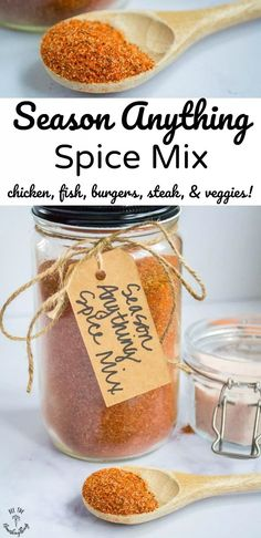 Use this healthy Season Anything Spice Mix for all your grilling cooking meats and roasting veggies. It's a paleo real food keto MSG-free seasoning blend that's awesome on chicken pork fish steak veggies and more! Homemade Dry Mixes, Homemade Spice Blends, Homemade Spices, Homemade Seasonings, Spice Mixes, Homemade Food, Keto Seasoning, Seasoning Mixes, Veggie Seasoning Recipe