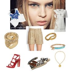 """Metallic is the solution"" by tmylene on Polyvore"