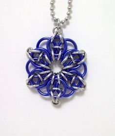 Copy of Celtic star, necklace, chainmaille, pendant, star necklace, star pendant by Chainedcreativity, $12.00 USD