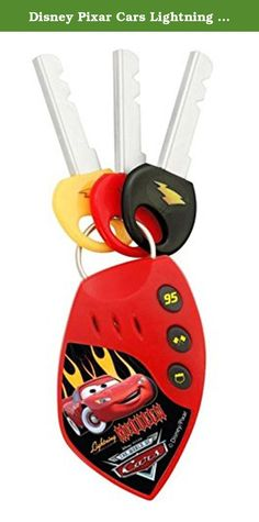 Disney Pixar Cars Lightning McQueen Car Alarm Key Set. RaceORama Car Alarm Key Set with Realistic Car Sound Effects!.