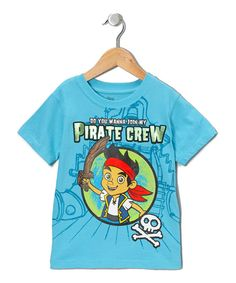 Disney Jake and the Never land pirates Toddler Boys Tee Shirt 2t 3t 4t Turquoise #Disney #Everyday