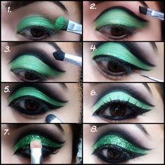 St Patricks Day inspired makeup by alanadawn    www.instagram.com/alanadawn