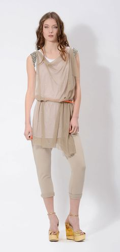 #tulle #top on #fleece #casual #pants is a #cool #match