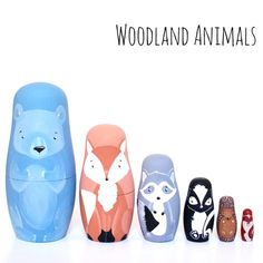 Woodland Animals Matryoshka Nesting Doll Set by Landon's Toy Box