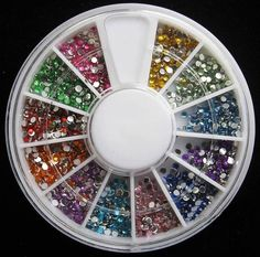 1 Sets Pleasing Popular 3D Nail Art Wheel Glitters Random Mixed Non-Toxic Manicure Accessory Primer DIY Style Mix Color 1.5mm Rhinestones * See this great product.