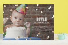 Confetti Foil-Pressed Children's Birthday Party In... | Minted