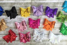 Set of 16 Sequin Bows! 48% OFF