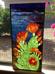 Stained Glass Cactus Ideas You Can Apply To Your House Decoration - JustHomeIdeas