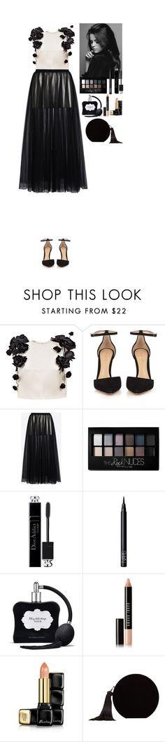 """Black&White"" by eliza-redkina ❤ liked on Polyvore featuring Esme Vie, Gianvito Rossi, Valentino, Maybelline, Christian Dior, NARS Cosmetics, Victoria's Secret, Bobbi Brown Cosmetics, Guerlain and MANGO"