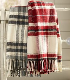 Flannel and plaid blankets and throws are comfortable and comforting when temperatures start to dip.