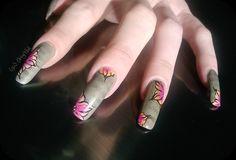 Floral newspaper by SoOrigiNail - Nail Art Gallery nailartgallery.nailsmag.com by Nails Magazine www.nailsmag.com #nailart