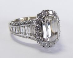 18K white gold L'Amour Crisscut diamond ring by Christopher Designs #christopherdesigns #crosscut #diamonds #wickliffauction