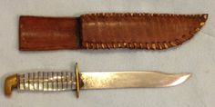 US World War Two theatre made knife with scabbard