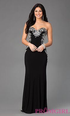 The Perfect Formal Dress! Strapless Sweetheart Floor Length Dress by Sean at PromGirl.com