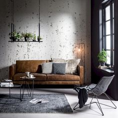 Industrial style living room design ideas (15)