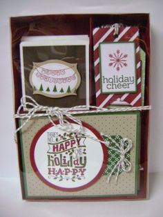 Stampin' Studio, Stampin' Up! Cards & Tags Gift Box Set, Holiday Catalog, Under the Tree Tag a Bag Accessory Kit, Under the Tree DSP