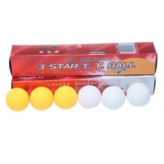 Outdoor 6Pcs/Boxes Professional High Quality 3 Stars DHS White Ping Pong Balls 2.8G Weight Table Tennis Balls L09 #Affiliate