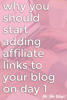 If you want to make money blogging, there's no reason to wait to start using affiliate links on your blog. You can start on day one and here's why. http://ohsheblogs.com/start-adding-affiliate-links-to-your-blog-on-day-1/?utm_campaign=coschedule&utm_source=pinterest&utm_medium=Oh%2C%20She%20Blogs%21&utm_content=Why%20You%20Should%20Start%20Adding%20Affiliate%20Links%20to%20Your%20Blog%20on%20Day%201