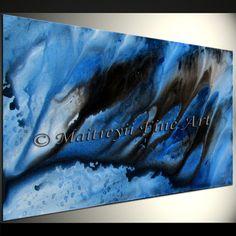 Oil painting, Modern Art, Original, Blue, Abstract Art, Paintings, wall Artwork