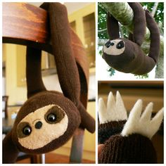 DIY Easy Sock Sloth Tutorial from Instructables... | True Blue Me & You DIYs for Creatives