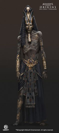 Assassin's Creed Origins: The Curse Of The Pharaohs, Konstantin Kostadinov Assassins Creed Origins, Assassins Creed Odyssey, Egyptian Mythology, Ancient Egyptian Art, Ancient Armor, Dark Fantasy, Fantasy Art, Tomb Kings, Egypt Art