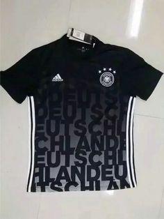 9da2bd769e8 2016 Germany Trainning Black Thailand Soccer Jersey. cheerera · Soccer  Jerseys