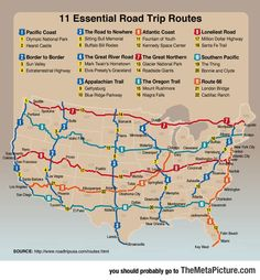 Funny Pictures: Must-Do Road Trips In The US
