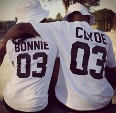 Do you love your husband or your friend? Here is a manner to show it. Bonnie and Clyde, the famous criminals, but they love very much each other, for sure. They were special, isn't you too? White or b