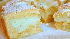 Krémový jablkový koláč s vanilkovým krémom a kyslou smotanou!