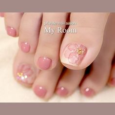 Nail art Christmas - the festive spirit on the nails. Over 70 creative ideas and tutorials - My Nails Pedicure Designs, Pedicure Nail Art, Toe Nail Designs, Pedicure Ideas, Pretty Toe Nails, Cute Toe Nails, My Nails, Toe Nail Color, Toe Nail Art
