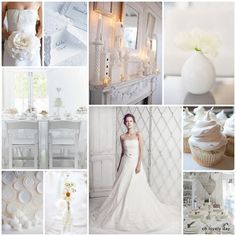 #White on white inspiration board