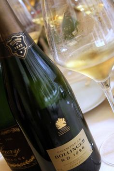 """Bollinger La Grande Année 1996 - """"I only drink champagne when I'm happy and when I'm sad. Sometimes I drink it when I'm alone. When I have company I consider it obligatory. I trifle with it if I'm not in a hurry and drink it when I am, otherwise I never touch the stuff unless I am thirsty."""""""