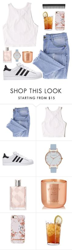 """iced tea"" by emily-2024099 ❤ liked on Polyvore featuring Essie, Hollister Co., Olivia Burton, Burberry, Tom Dixon, Schott Zwiesel, GHD and tht"