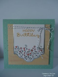 handmade by Julia Quinn  -    Independent Stampin' Up! Demonstrator: Cottage Greetings Card Kit