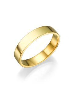 New to shireeodiz on Etsy: 14K Yellow Gold Ring Size 7 Classic Style Plain Wedding Anniversary 4mm Band Unisex Christmas Gift (320.00 USD)